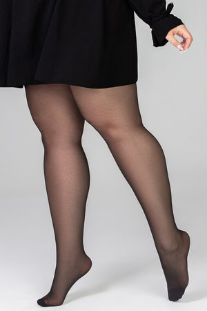 MONA QUEEN Punčochové kalhoty Plus Size Victoria 30 DEN