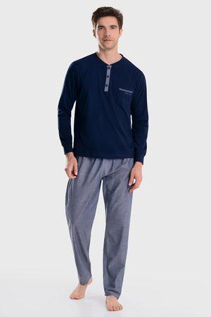 Enrico coveri Muži Tepláky na spaní - Modré pyžamo Dylan