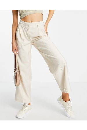 Y.A.S Ženy Společenské - Tailored trouser co-ord in cream-White