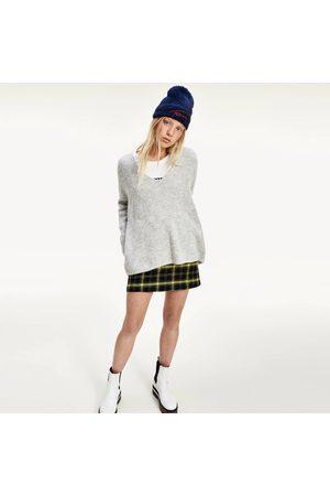 Tommy Hilfiger Ženy Svetry - Dámský šedý svetr Cuff Branding