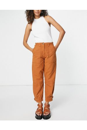 Whistles Cadi utility cargo trouser in rust-Brown