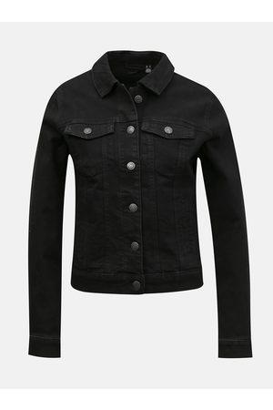 VERO MODA Ženy Džínové bundy - Černá džínová bunda Hot Soya