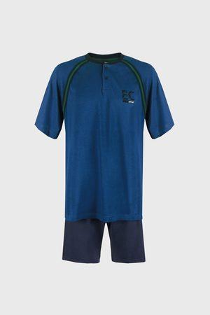 Enrico coveri Modré pyžamo Casey PLUS SIZE