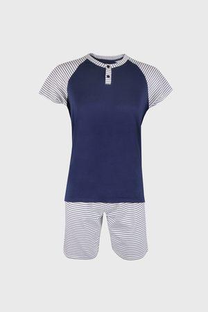 Cotonella Muži Tepláky na spaní - Modré pyžamo Blaze