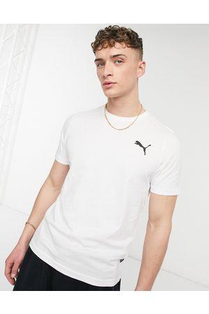 PUMA Essentials cat logo t-shirt in all white