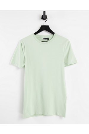 ASOS Organic muscle fit t-shirt with crew neck in light green