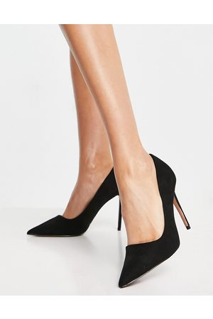 ASOS Penza pointed high heeled court shoes in black