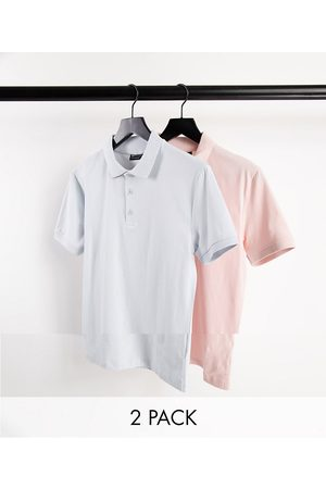 ASOS 2 pack organic muscle fit jersey polo-Multi
