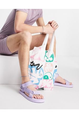 ASOS Tech sandal in washed lilac-Purple