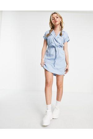 Noisy May Shirt dress in light blue
