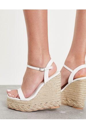 SIMMI Shoes Simmi London Monique wedge sandals in white
