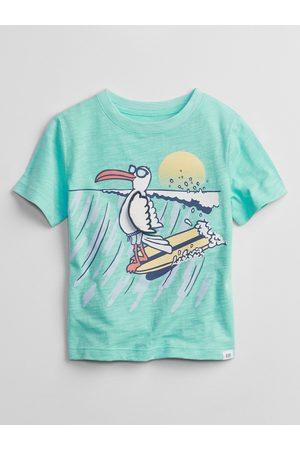 GAP Modré klučičí dětské tričko graphic t-shirt