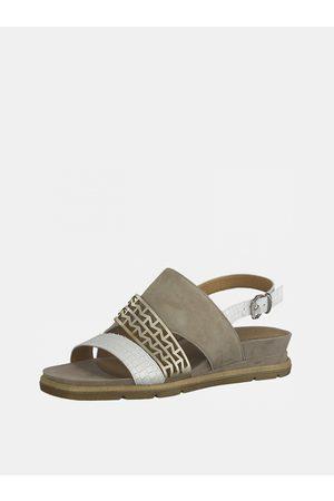 Tamaris Ženy Sandály - Béžové kožené sandálky