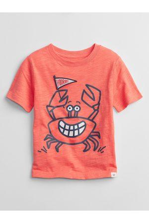 GAP Chlapci S krátkým rukávem - Oranžové klučičí dětské tričko graphic t-shirt