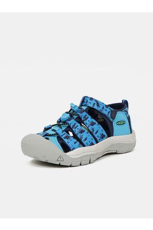 Keen Sandály - Modré dětské vzorované sandály