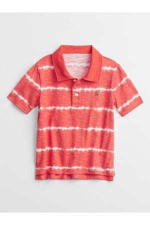 GAP Červené klučičí dětské polo tričko print t-shirt