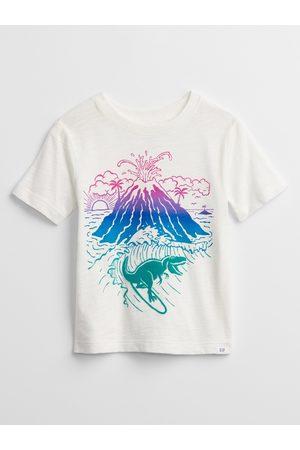 GAP Chlapci S krátkým rukávem - Bílé klučičí dětské tričko graphic t-shirt