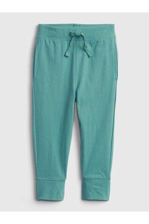 GAP Zelené klučičí dětské tepláky 100% organic cotton mix and match pull-on pants