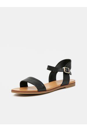 Aldo Černé dámské kožené sandály Eterillan