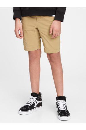 GAP Chlapci Kraťasy - Žluté klučičí dětské kraťasy pull-on hybrid shorts with quickdry.