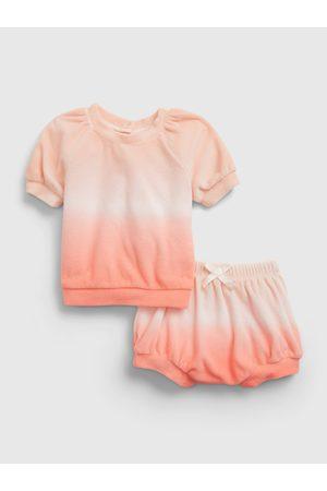 GAP Dětské soupravy - Oranžový holčičí baby set dip-dye outfit set