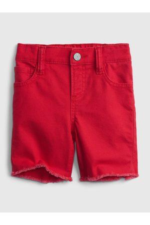 GAP Chlapci Kraťasy - Červené klučičí dětské kraťasy elasticized pull-on denim shorts with stretch