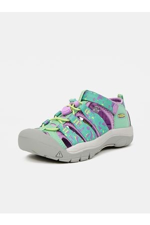 Keen Fialovo-zelené holčičí vzorované sandály
