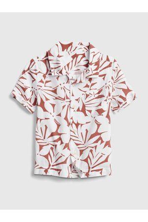 GAP Červená klučičí dětská košile shirt