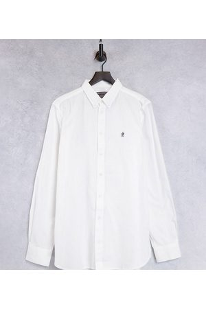 French Connection Muži S límečkem - Tall Essentials oxford shirt in white