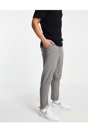 New Look Muži Chino - Slim smart trousers in grey check