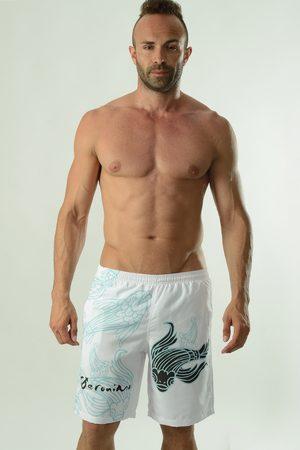 Geronimo Pánské koupací šortky Cyprinus bílé bílomodrá S