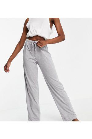 ASOS Tall Ženy Rovné nohavice - ASOS DESIGN Tall mix & match straight leg jersey pyjama trouser in grey marl