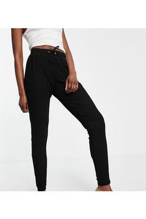 ASOS ASOS DESIGN Tall mix & match lounge super soft rib jogger in black