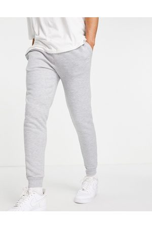 River Island Muži Tepláky - Script muscle fit joggers in grey