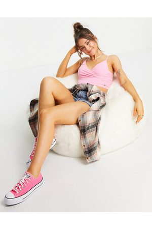Hollister Wrap camisole top in pink