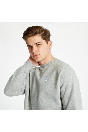 Nike Muži Trička - Sportswear Club Fleece Crewneck Dark Grey Heather/ White