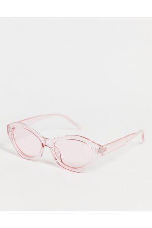 Pieces Ženy Sluneční brýle - Angled sunglasses in pink
