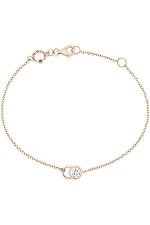 COURBET 18kt rose gold diamond CO chain bracelet