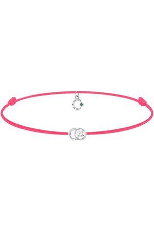 COURBET 18kt white gold diamond Let's Commit bracelet