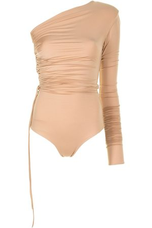 ALEKSANDRE AKHALKATSISHVILI Ženy Body - Ruched one-shoulder bodysuit