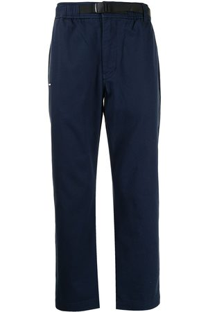 Izzue Logo-patch straight-leg trousers
