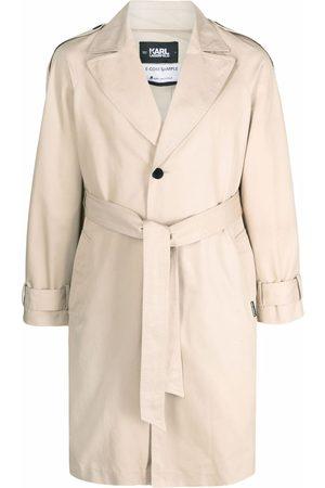 Karl Lagerfeld Logo-tape trench coat