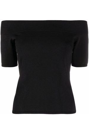 Alexander McQueen Ženy Bez ramínek - Off-shoulder T-shirt