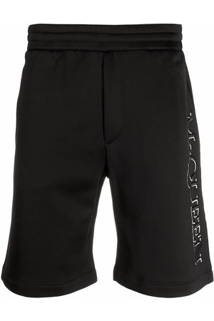 Alexander McQueen Logo-embroidered track shorts