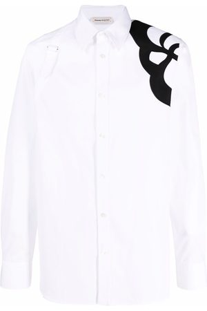 Alexander McQueen Embroidered long-sleeve shirt