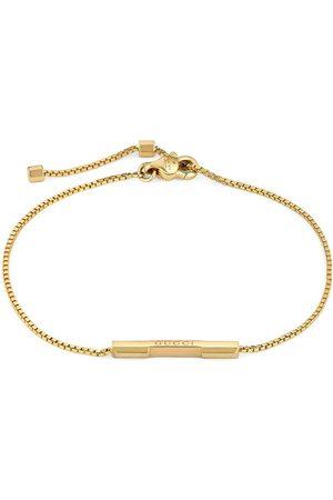 Gucci Ženy Náramky - 18kt yellow gold Link to Love logo bar bracelet