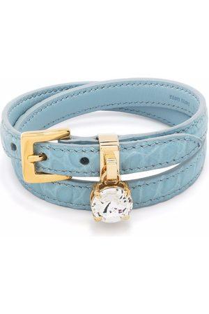Miu Miu Double-wrap leather bracelet
