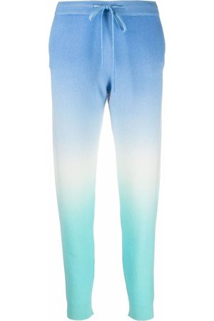 Chinti And Parker Tie-dye cashmere trackpants