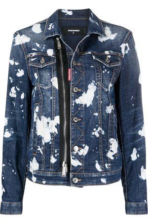 Dsquared2 Acid-wash denim jacket