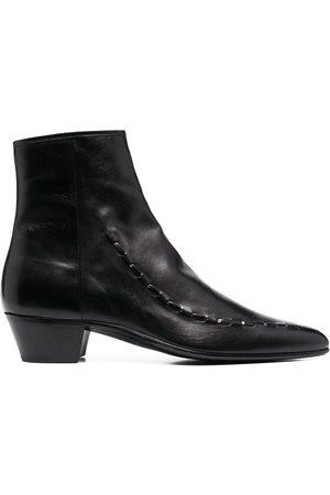 Saint Laurent Muži Kotníkové - Leather Casey 40 ankle boots